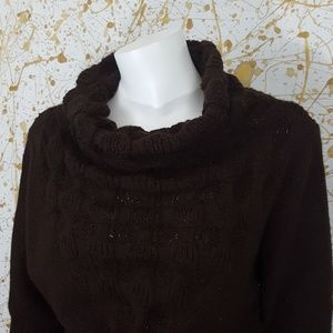 WOW Couture Cowlneck batwing sweater size Medium